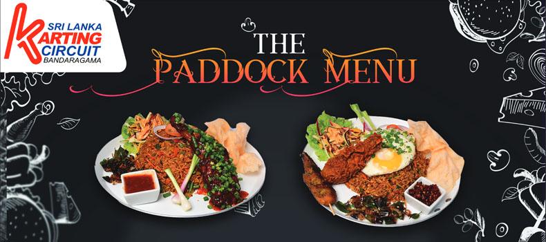 Paddock Restaurant Menu
