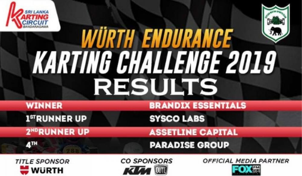 Brandix Essentials wins Wurth Endurance Karting Challenge 2019 at SLKC