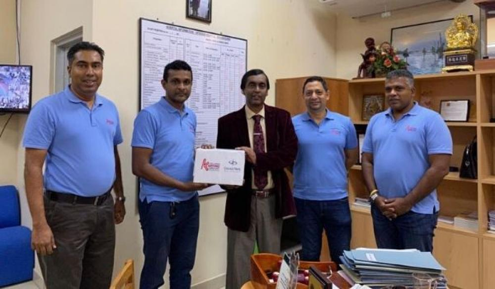 SLKC donates PinkRace proceeds to Apeksha Hospital, Maharagama